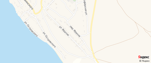 Переулок Фрунзе на карте Гусиноозерска с номерами домов