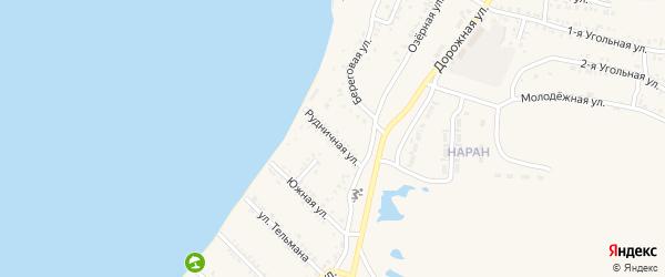 Рудничная улица на карте Гусиноозерска с номерами домов