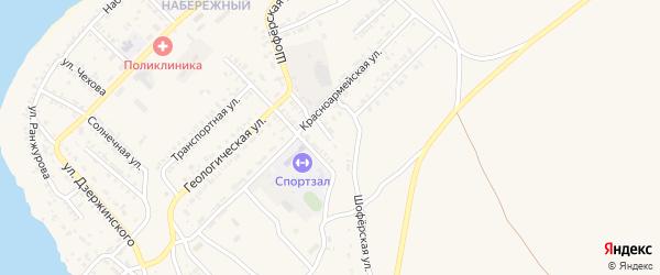 Шоферская улица на карте Гусиноозерска с номерами домов