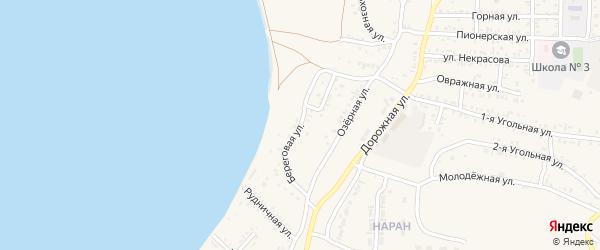 Береговая улица на карте Гусиноозерска с номерами домов