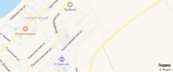 Ягодная улица на карте Гусиноозерска с номерами домов