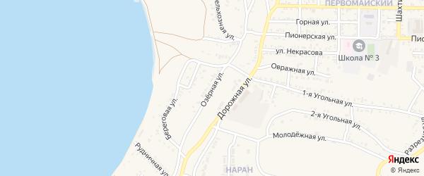 Озерная улица на карте Гусиноозерска с номерами домов