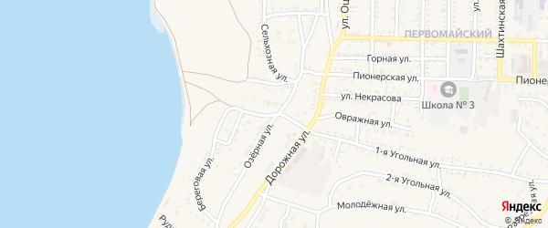 Дорожный переулок на карте Гусиноозерска с номерами домов