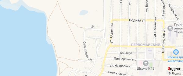 Сельхозная улица на карте Гусиноозерска с номерами домов