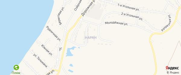 Поселок Наран на карте Гусиноозерска с номерами домов
