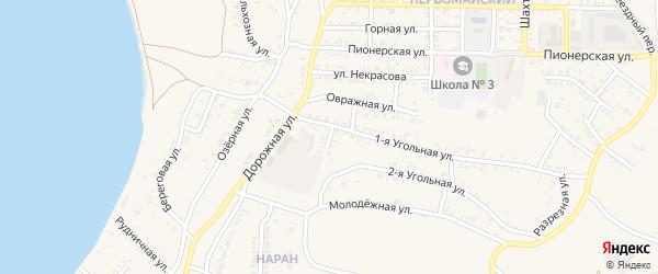 Нагорная улица на карте Гусиноозерска с номерами домов