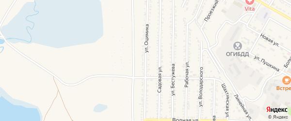 Улица Оцимика на карте Гусиноозерска с номерами домов