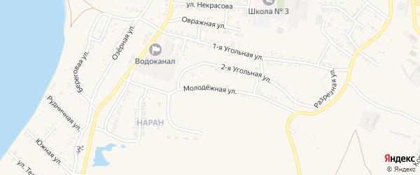 Молодежная улица на карте Гусиноозерска с номерами домов