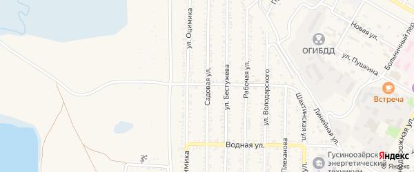 Садовая улица на карте Гусиноозерска с номерами домов