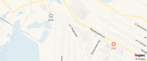 Улица Надежды на карте Гусиноозерска с номерами домов