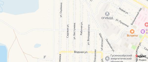 Улица Бестужева на карте Гусиноозерска с номерами домов