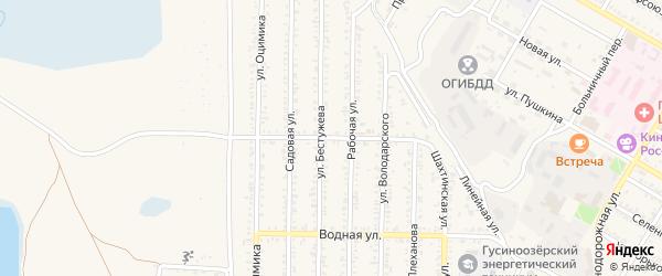 Северная улица на карте Гусиноозерска с номерами домов