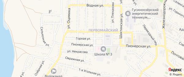 Горная улица на карте Гусиноозерска с номерами домов