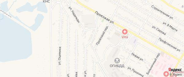 Юбилейная улица на карте Гусиноозерска с номерами домов
