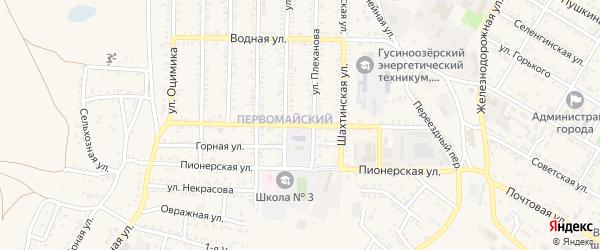 Гражданская улица на карте Гусиноозерска с номерами домов