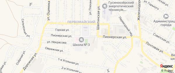 Пионерская улица на карте Гусиноозерска с номерами домов