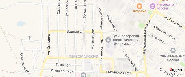 Улица Плеханова на карте Гусиноозерска с номерами домов