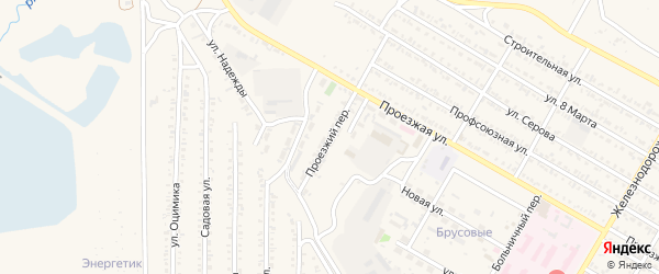 Проезжий переулок на карте Гусиноозерска с номерами домов
