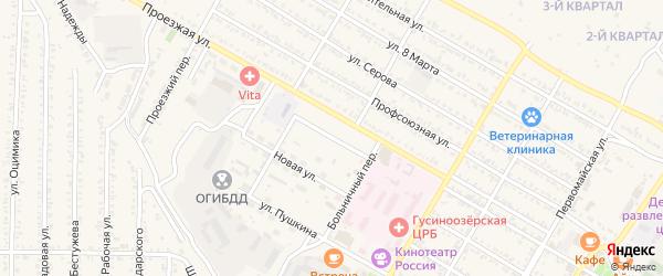 Коммунистическая улица на карте Гусиноозерска с номерами домов