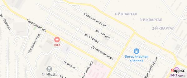 Улица Серова на карте Гусиноозерска с номерами домов