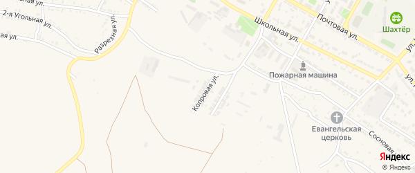 Копровая улица на карте Гусиноозерска с номерами домов