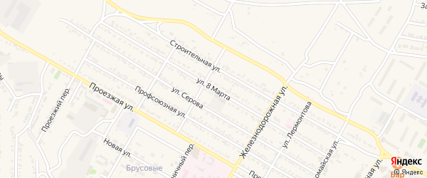Улица 8 Марта на карте Гусиноозерска с номерами домов