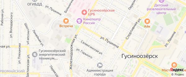 Гусиноозерская улица на карте Гусиноозерска с номерами домов