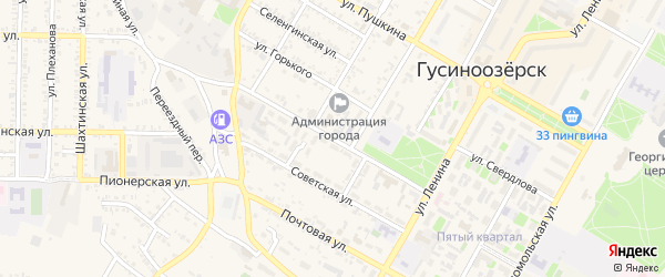 Улица Калинина на карте Гусиноозерска с номерами домов
