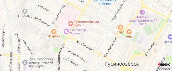 Заозерная улица на карте Гусиноозерска с номерами домов