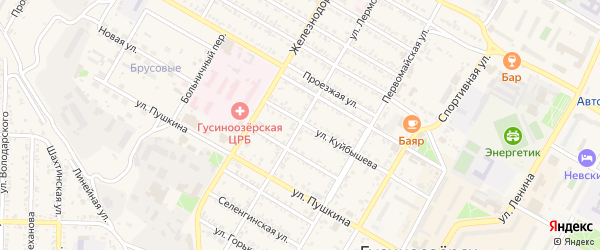 Улица Лермонтова на карте Гусиноозерска с номерами домов