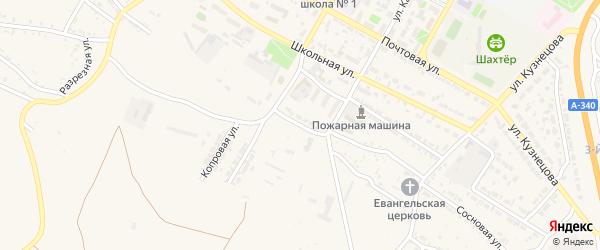 Зеленая улица на карте Гусиноозерска с номерами домов