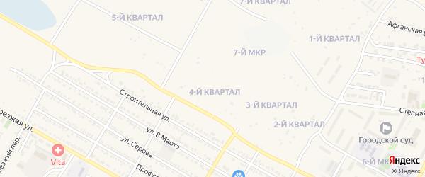 4-й квартал на карте 7-й микрорайона с номерами домов