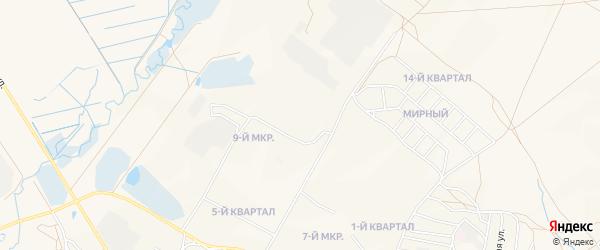 Карта Северного поселка города Гусиноозерска в Бурятии с улицами и номерами домов