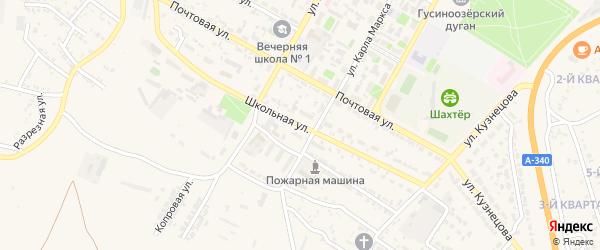 Школьная улица на карте Гусиноозерска с номерами домов