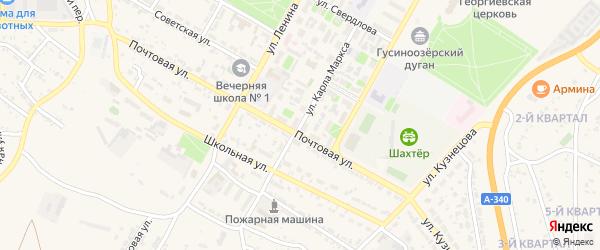 Улица Карла Маркса на карте Гусиноозерска с номерами домов