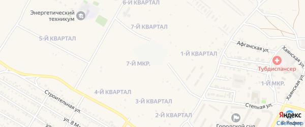 2-й квартал на карте 7-й микрорайона с номерами домов