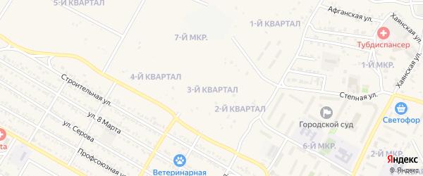 3-й квартал на карте 7-й микрорайона с номерами домов