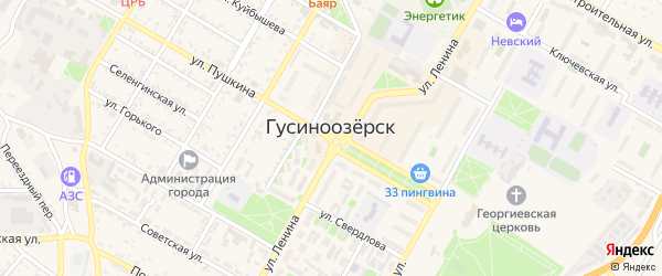 Территория ГК Дружба на карте Гусиноозерска с номерами домов