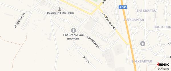 Сосновая улица на карте Гусиноозерска с номерами домов