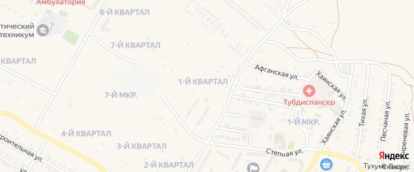 1-й квартал на карте Мирного поселка с номерами домов