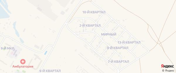 3-й квартал на карте поселка Тухума с номерами домов