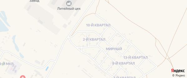 2-й квартал на карте поселка Тухума с номерами домов