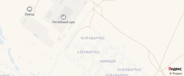 10-й квартал на карте Мирного поселка с номерами домов