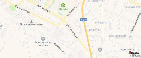 Улица Кузнецова на карте Гусиноозерска с номерами домов
