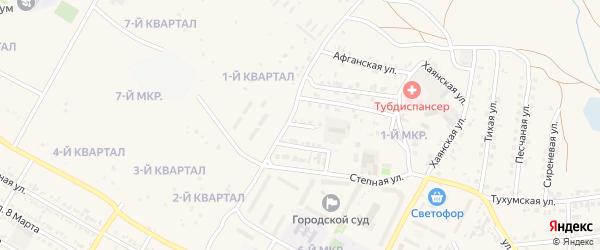 Яблоневый переулок на карте Гусиноозерска с номерами домов
