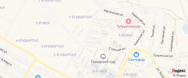 Вишневый переулок на карте Гусиноозерска с номерами домов