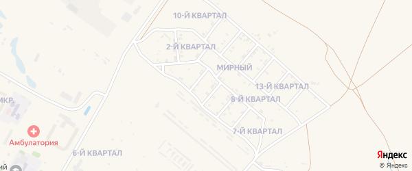 4-й квартал на карте Мирного поселка с номерами домов