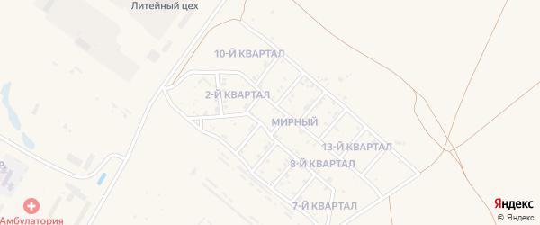 9-й квартал на карте Мирного поселка с номерами домов