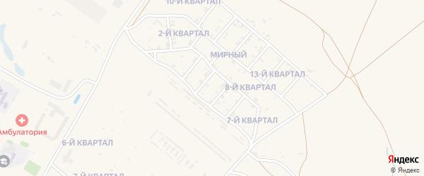 5-й квартал на карте Мирного поселка с номерами домов