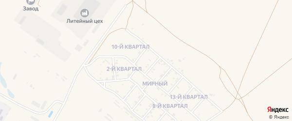 11-й квартал на карте Мирного поселка с номерами домов
